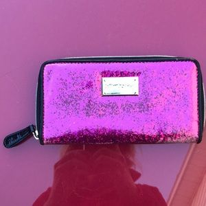 Betsy Johnson amazing sparkle zip around wallet